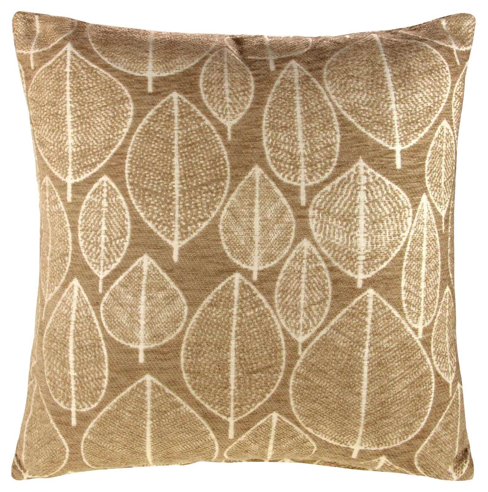 Chenille Throw Pillow Covers : KIRKTON GEOMETRIC LEAF CHENILLE CUSHION COVER THROW PILLOW CASE 43cm x 43cm