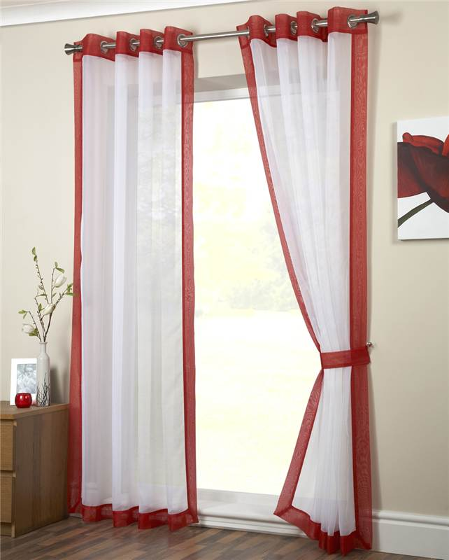 Curtain Ideas With Voile: Eyelet Voile Curtain Panel , Ringtop Curtain, Latest
