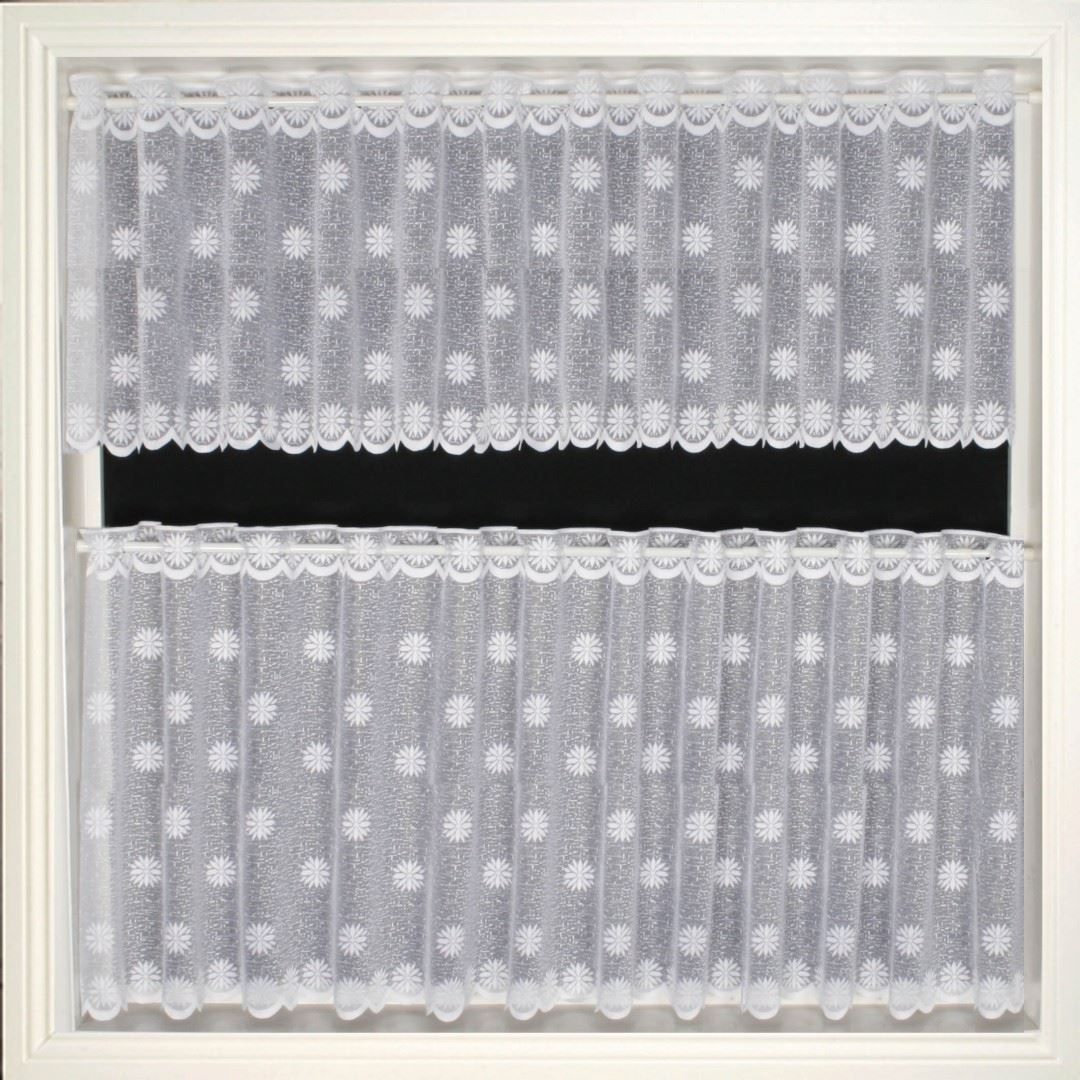 LUXURY MODERN CAFE NET CURTAIN WHITE LACE CURTAINS CHOOSE