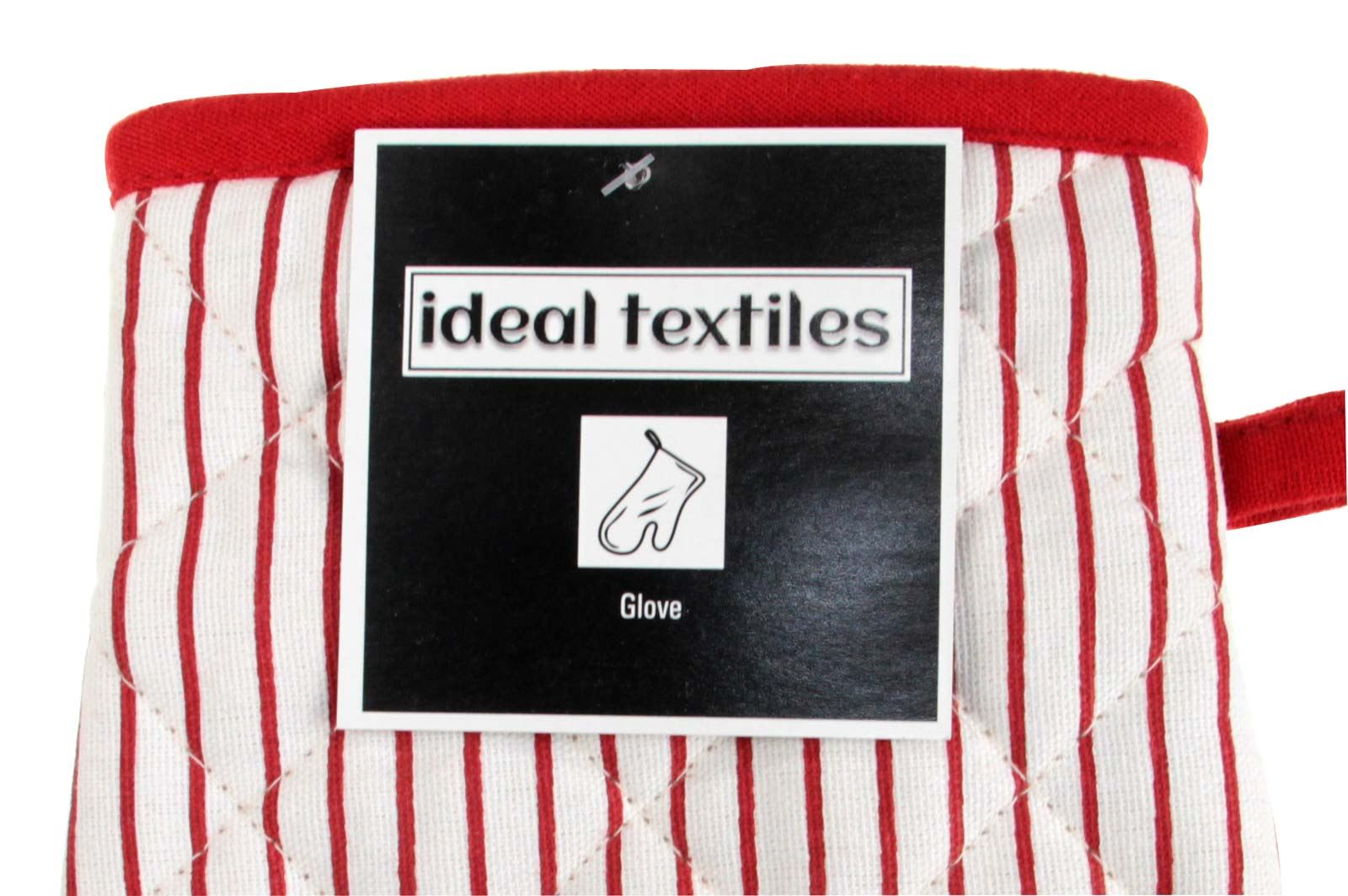 Oven Gloves, Windsor Stripe, Heat Resistant, Extra Thick 100% Cotton Single