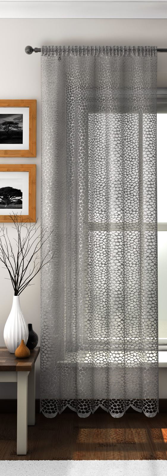 Safari animal print slot top sheer voile rod pocket window for Window voiles