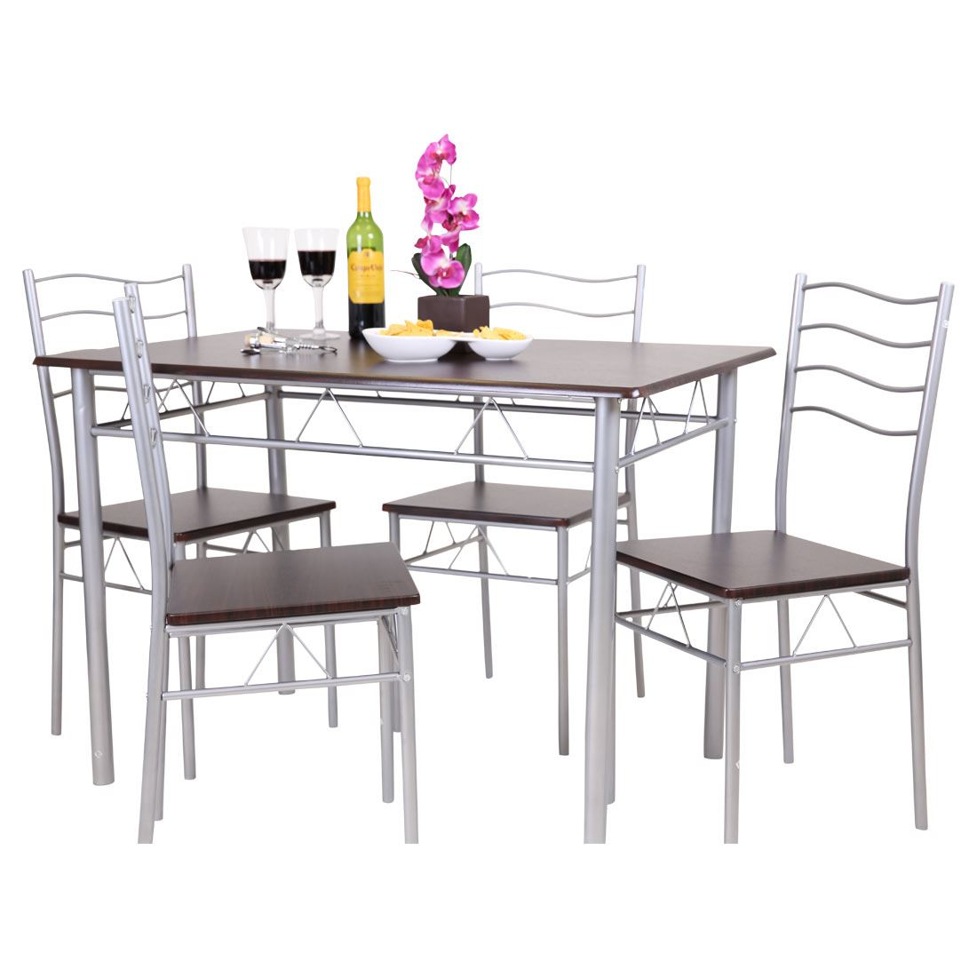 Florida 5 piece dining table and 4 chair set breakfast for 4 piece kitchen table set