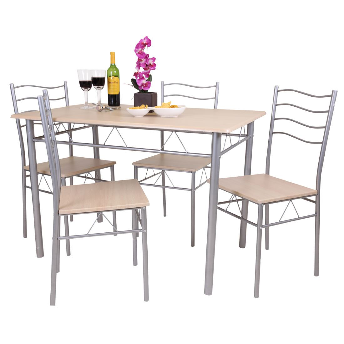 Florida 5 piece dining table and 4 chair set breakfast for 4 piece dining table