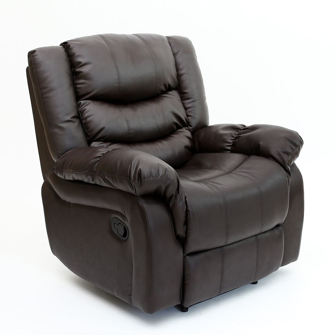 seattle leather recliner armchair sofa home lounge chair reclining