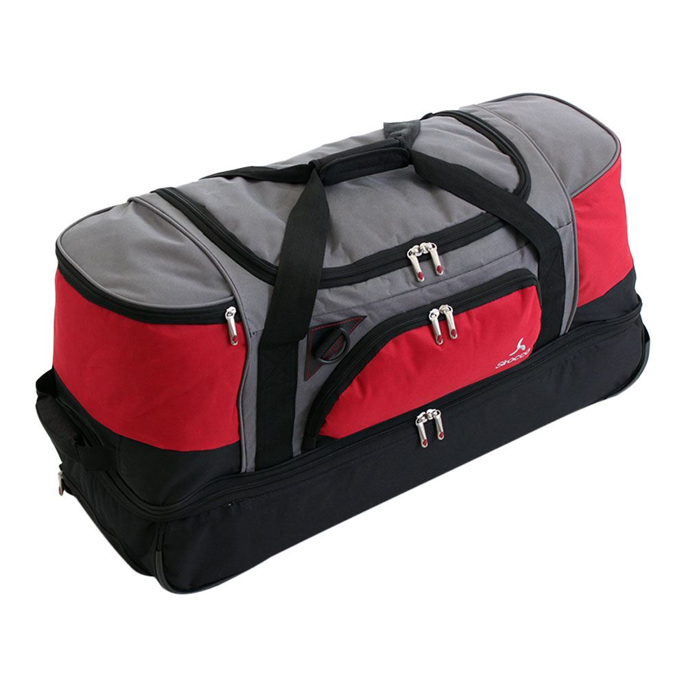 Large Split Level Wheeled Trolley Holdall Luggage Travel Duffle Suitcase Bag Ebay