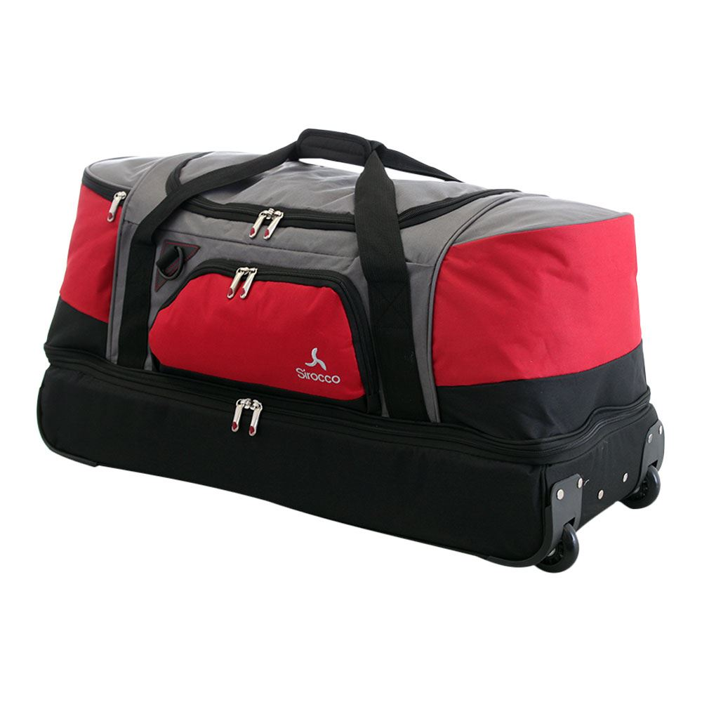 Large Split Level Wheeled Trolley Holdall Luggage Travel Duffle ...
