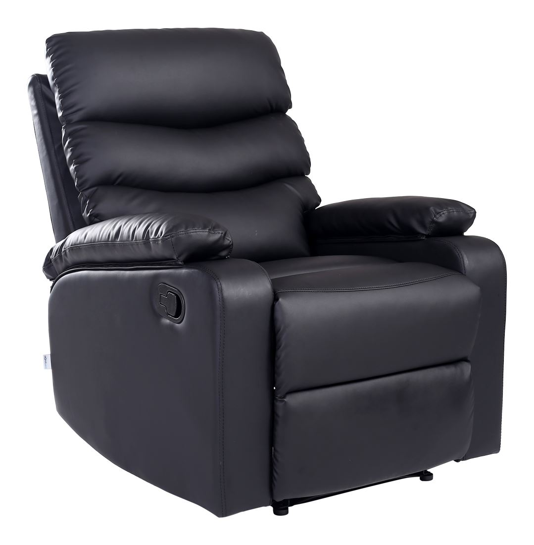 ASHBY LEATHER RECLINER ARMCHAIR SOFA HOME LOUNGE CHAIR ...