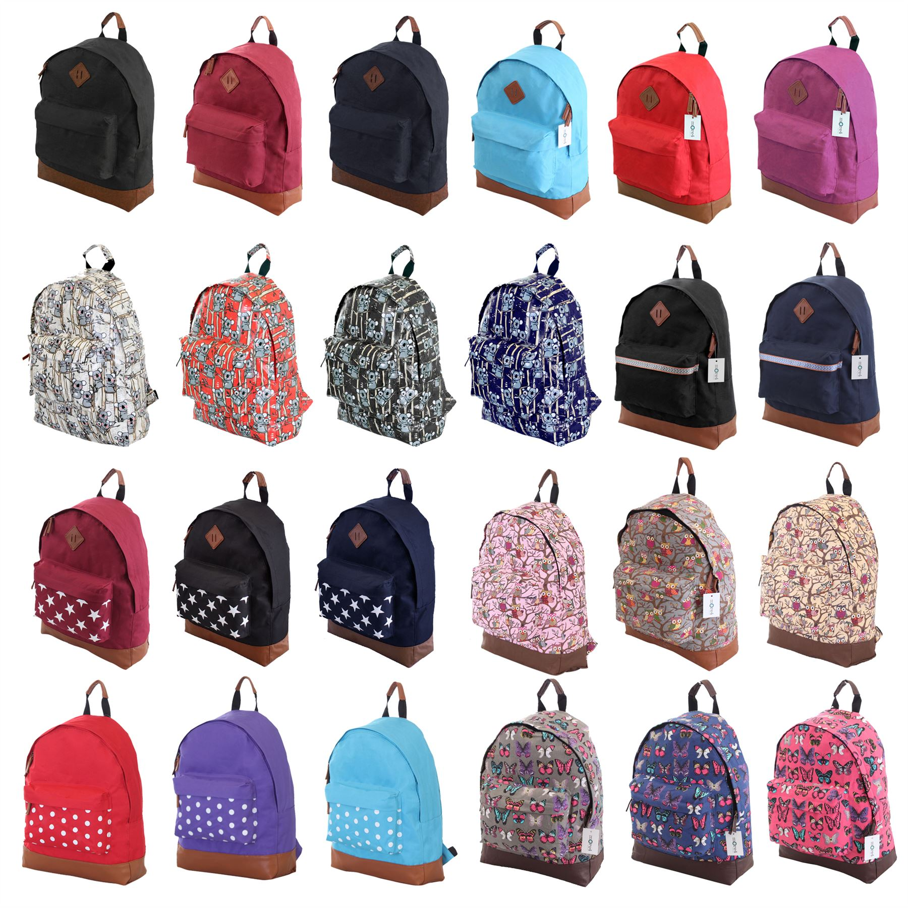 Mens Boys Girls Retro Designer Backpack Rucksack School Gym ...