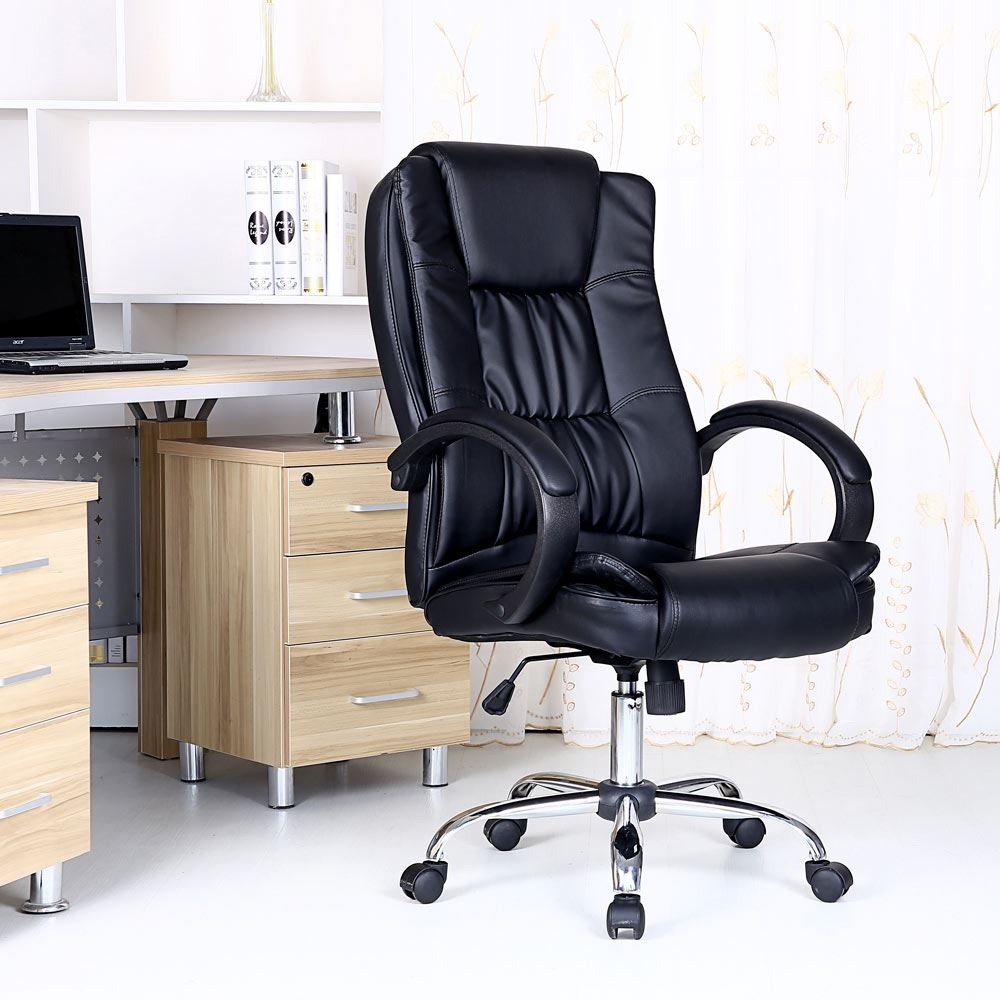 Santana High Back Executive Office Chair Leather Computer Desk Furniture Ebay