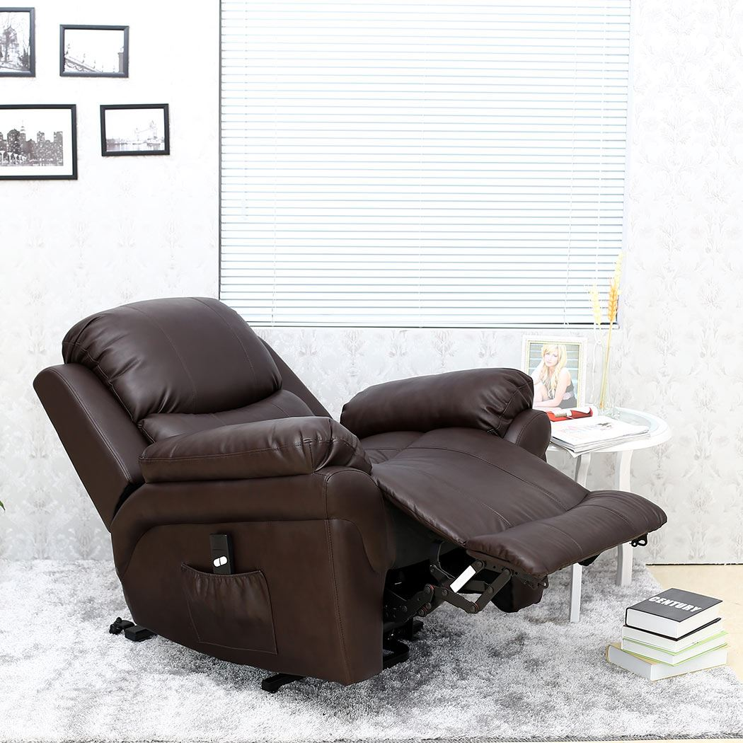 28 real leather armchair madison elecrtic rise recliner rea