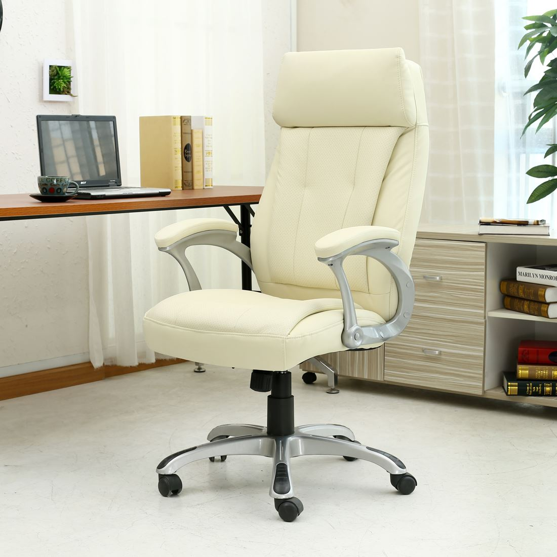 Modini High Back Executive Office Chair Leather Computer