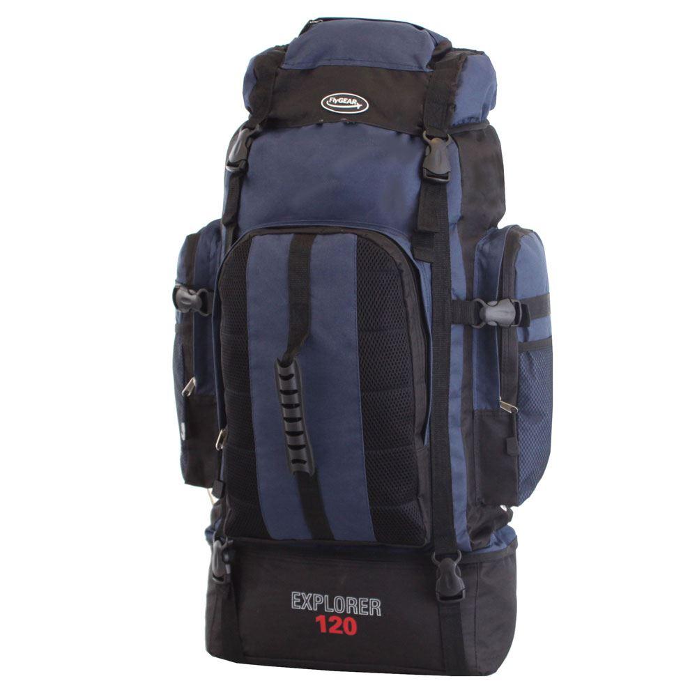 extra large 120l camping hiking outdoor travel backpack. Black Bedroom Furniture Sets. Home Design Ideas