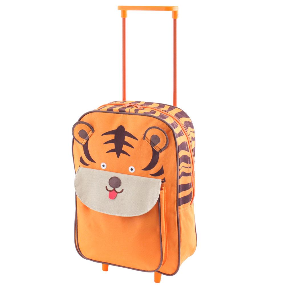 Kids Boys Girls Animal Wheeled Cabin Trolley Suitcase Hand Luggage ...