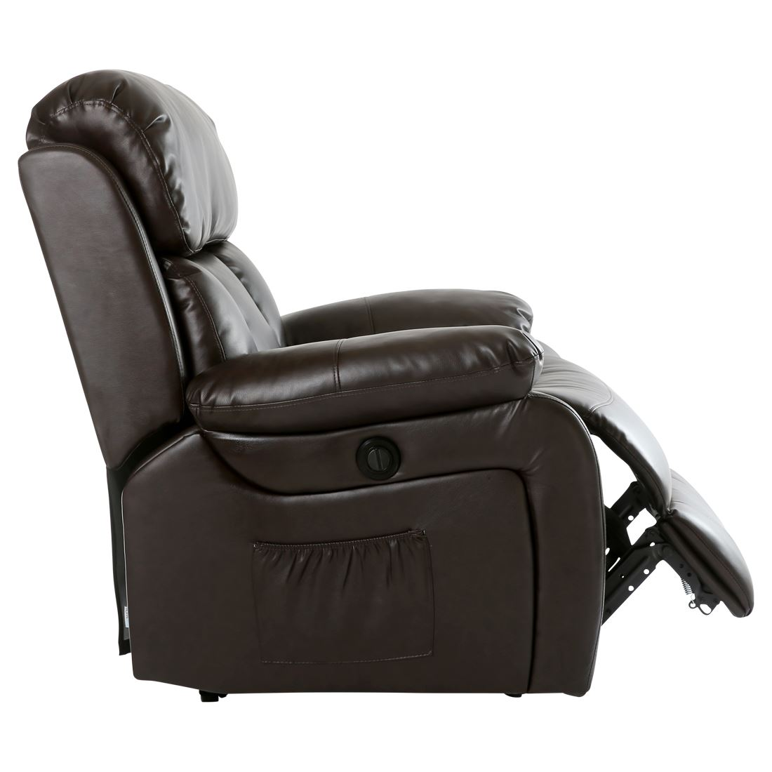 CHESTER ELECTRIC HEATED LEATHER MASSAGE RECLINER CHAIR SOFA GAMING HOME ARMCH