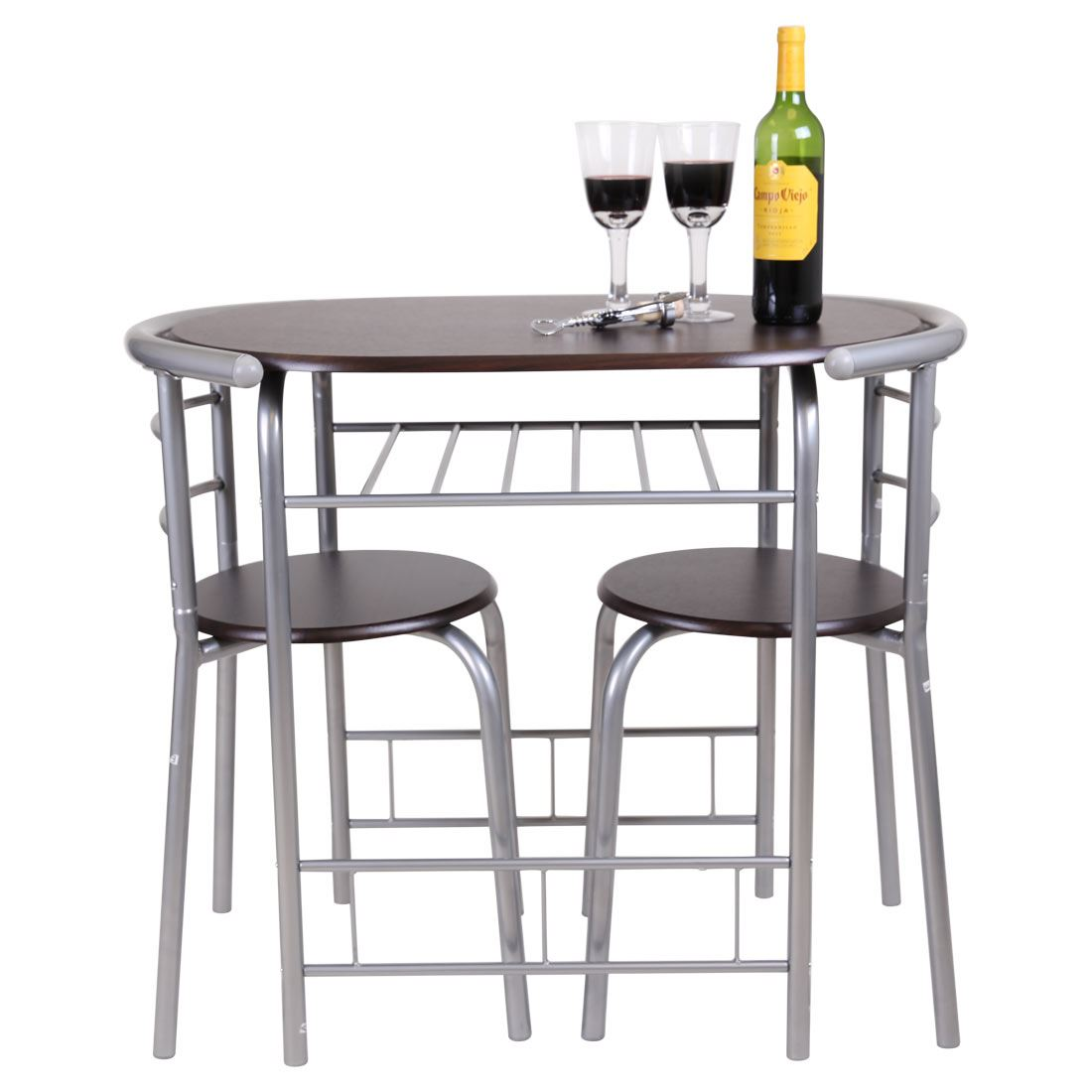 Chicago 3 piece dining table and 2 chair set breakfast for Two seat kitchen table