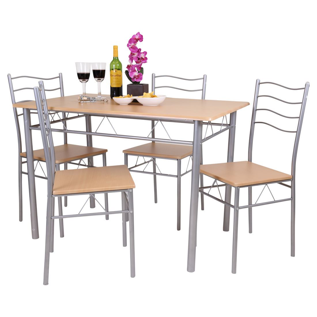 Florida 5 piece dining table and 4 chair set breakfast for 4 chair kitchen table set