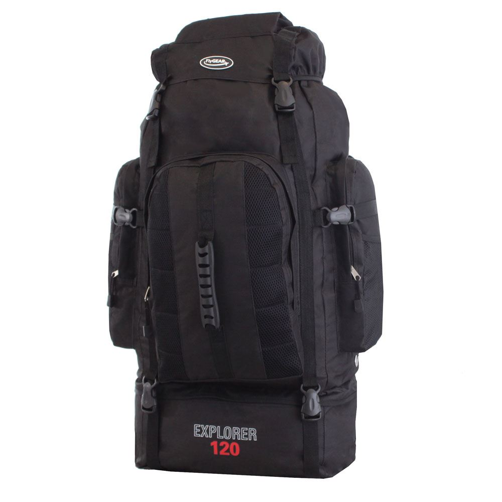 extra large 120 l camping hiking outdoor travel backpack. Black Bedroom Furniture Sets. Home Design Ideas