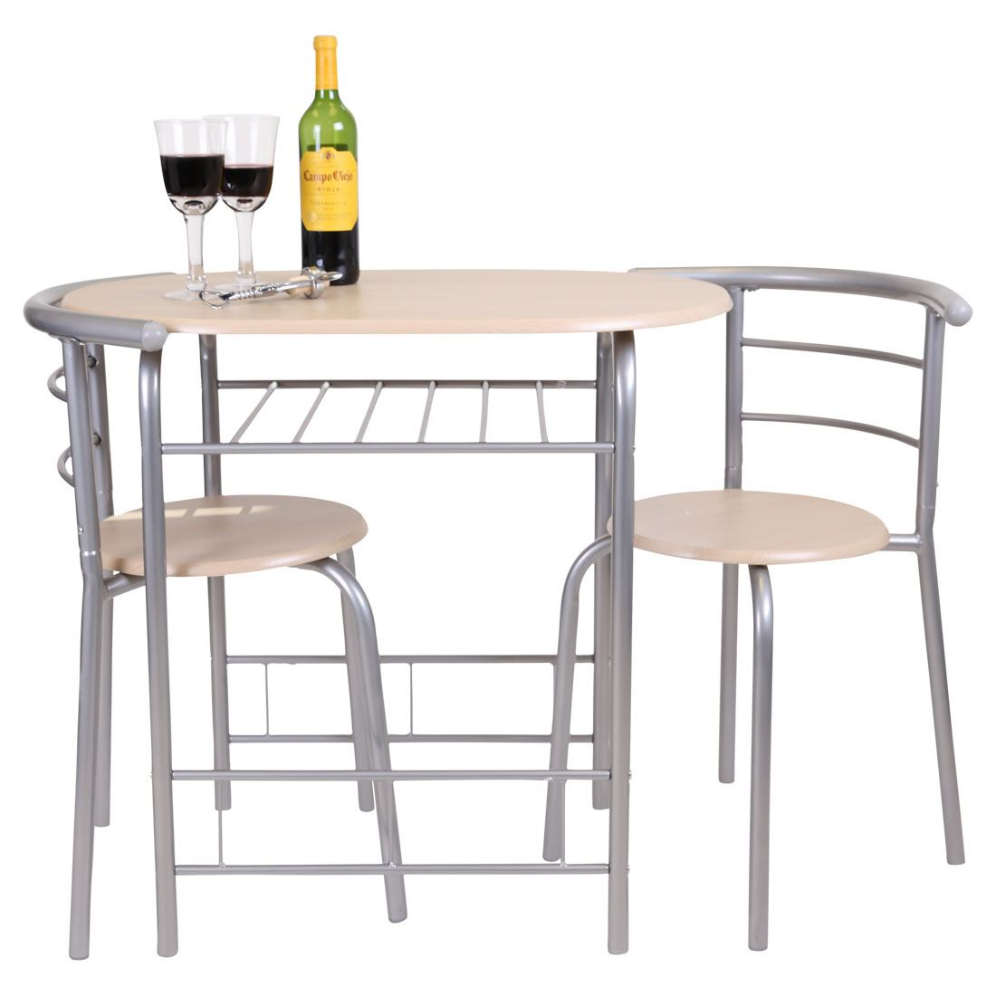 chicago 3 piece dining table and 2 chair set breakfast kitchen