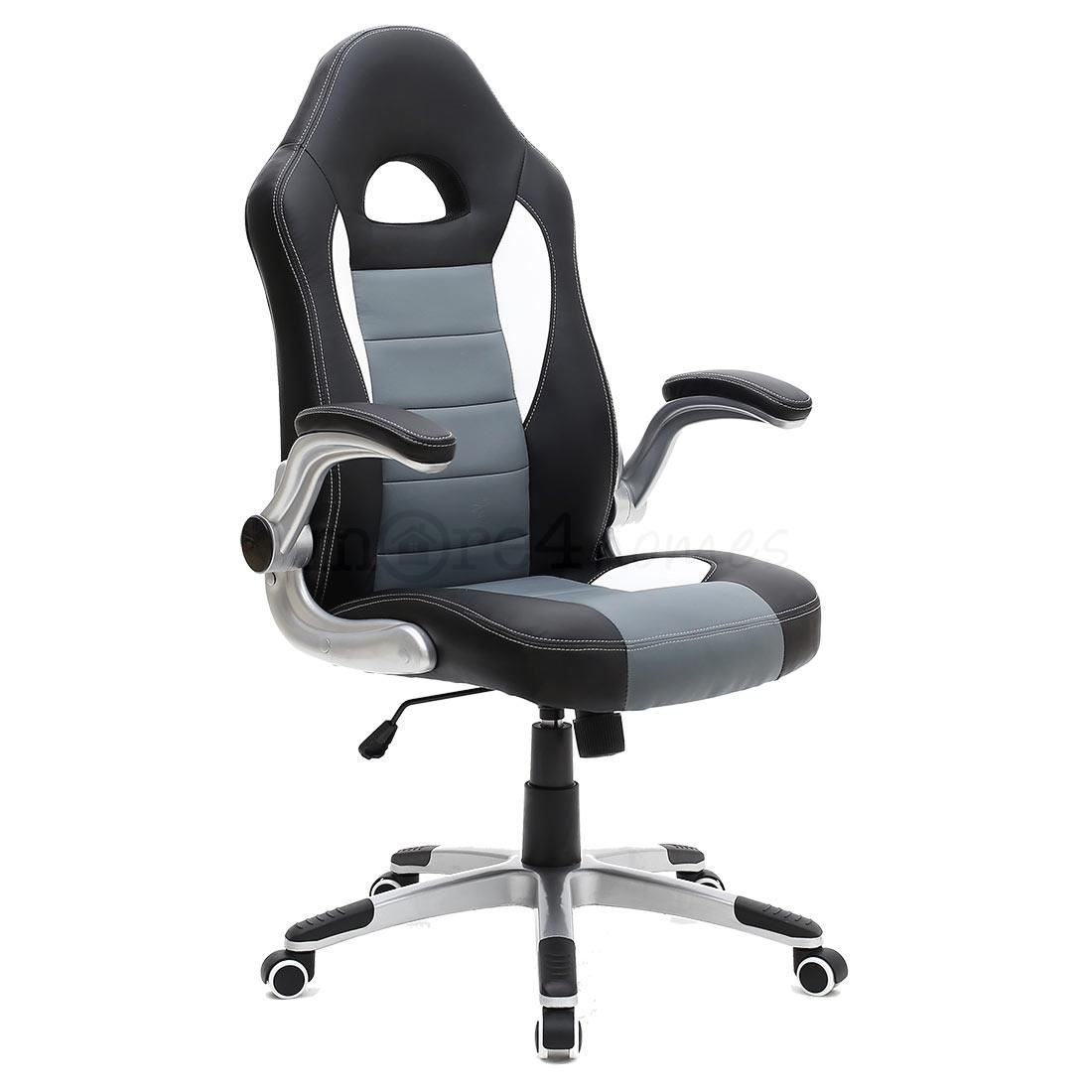 racing car office chair leather adjustable arms gaming desk bucket