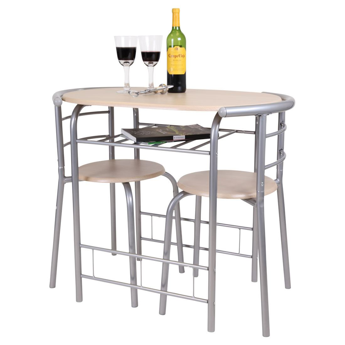 Kitchen Bistro Set: CHICAGO 3 PIECE DINING TABLE AND 2 CHAIR SET. BREAKFAST