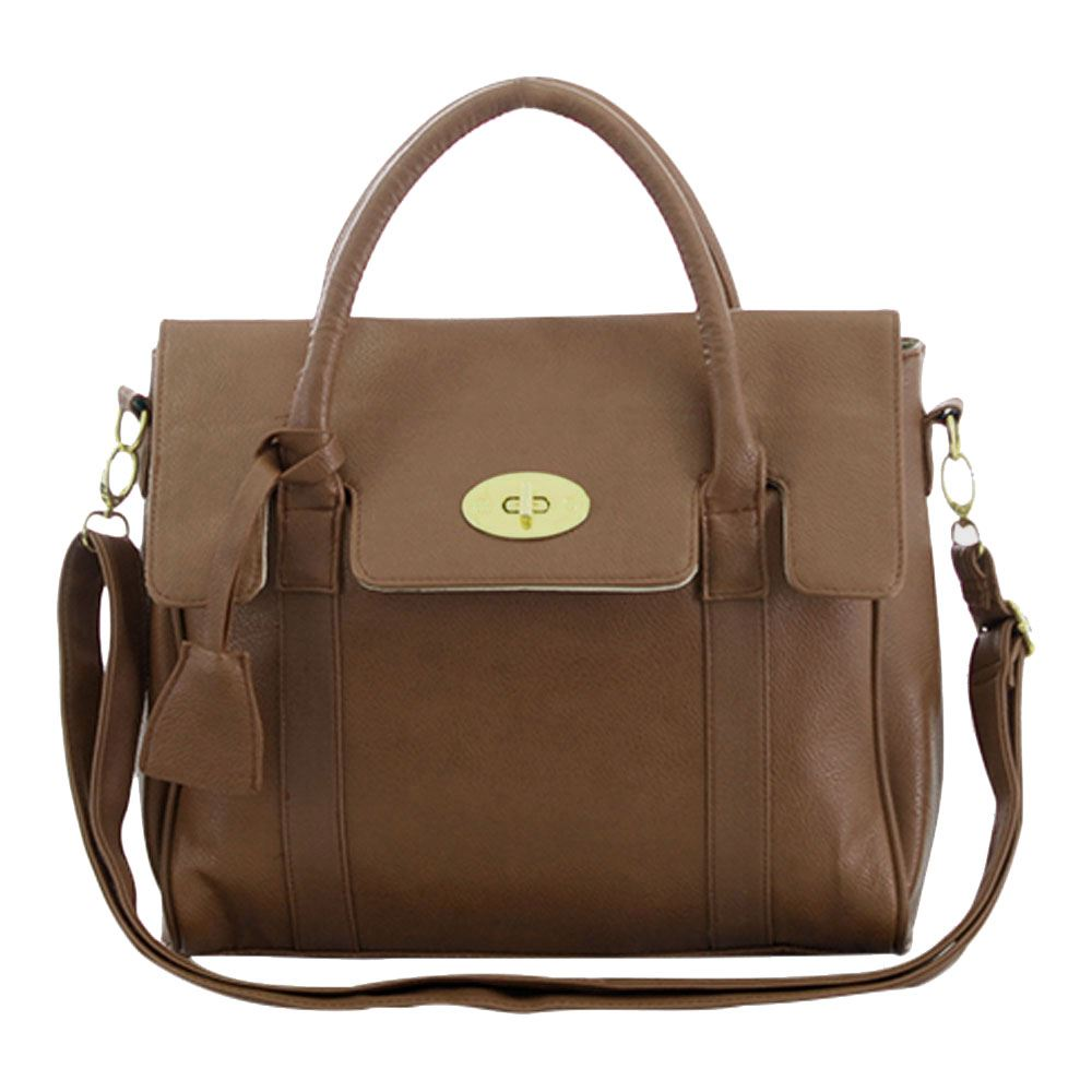 New Womens Faux Leather Fashion Messenger Handbag