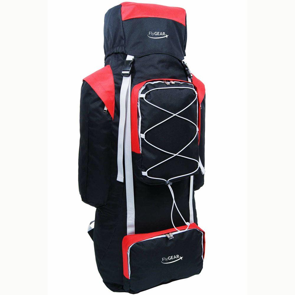 extra large 120 l camping hiking travel trekking rucksack. Black Bedroom Furniture Sets. Home Design Ideas