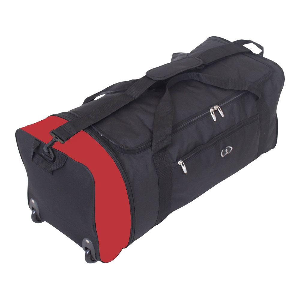 large folding 2 wheeled travel sports weekend carry holdall luggage bag. Black Bedroom Furniture Sets. Home Design Ideas