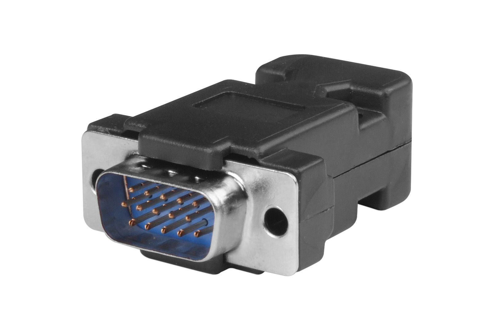 Pin db hd way d sub vga male connector plug with