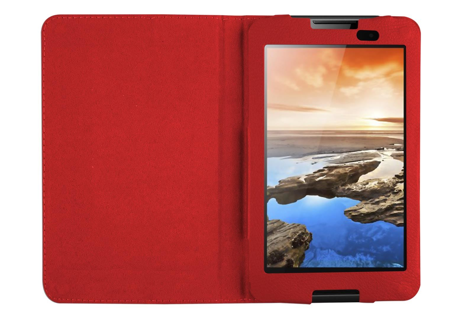 """Hellfire Trading Magnetic PU Leather Case Cover for Lenovo A7-50 A3500 7"""""""