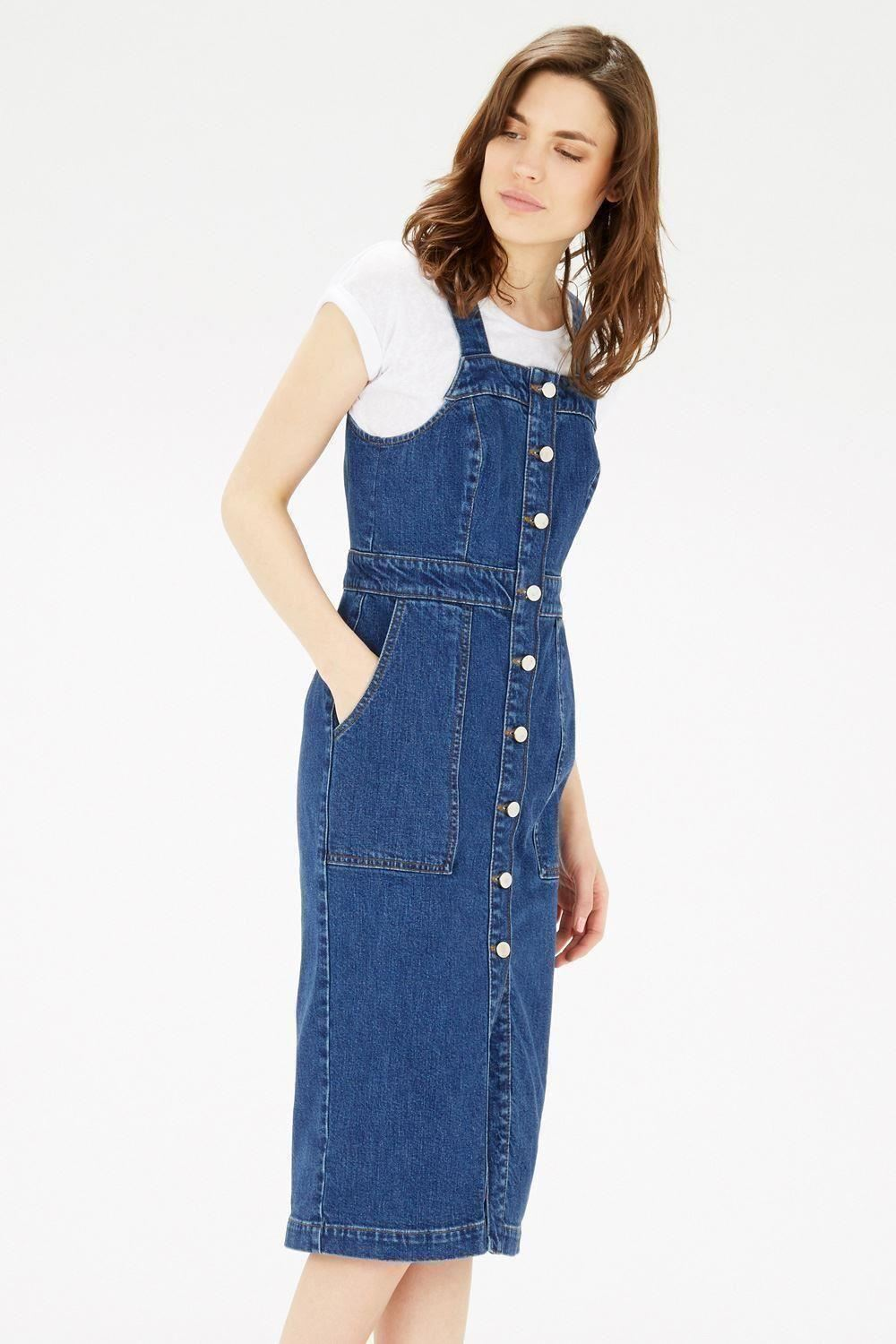 Amazing MOTO Vintage Denim Pinafore Dress  Topshop USA