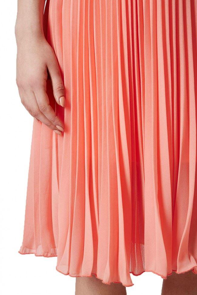 topshop sport waistband pleated midi skirt ebay