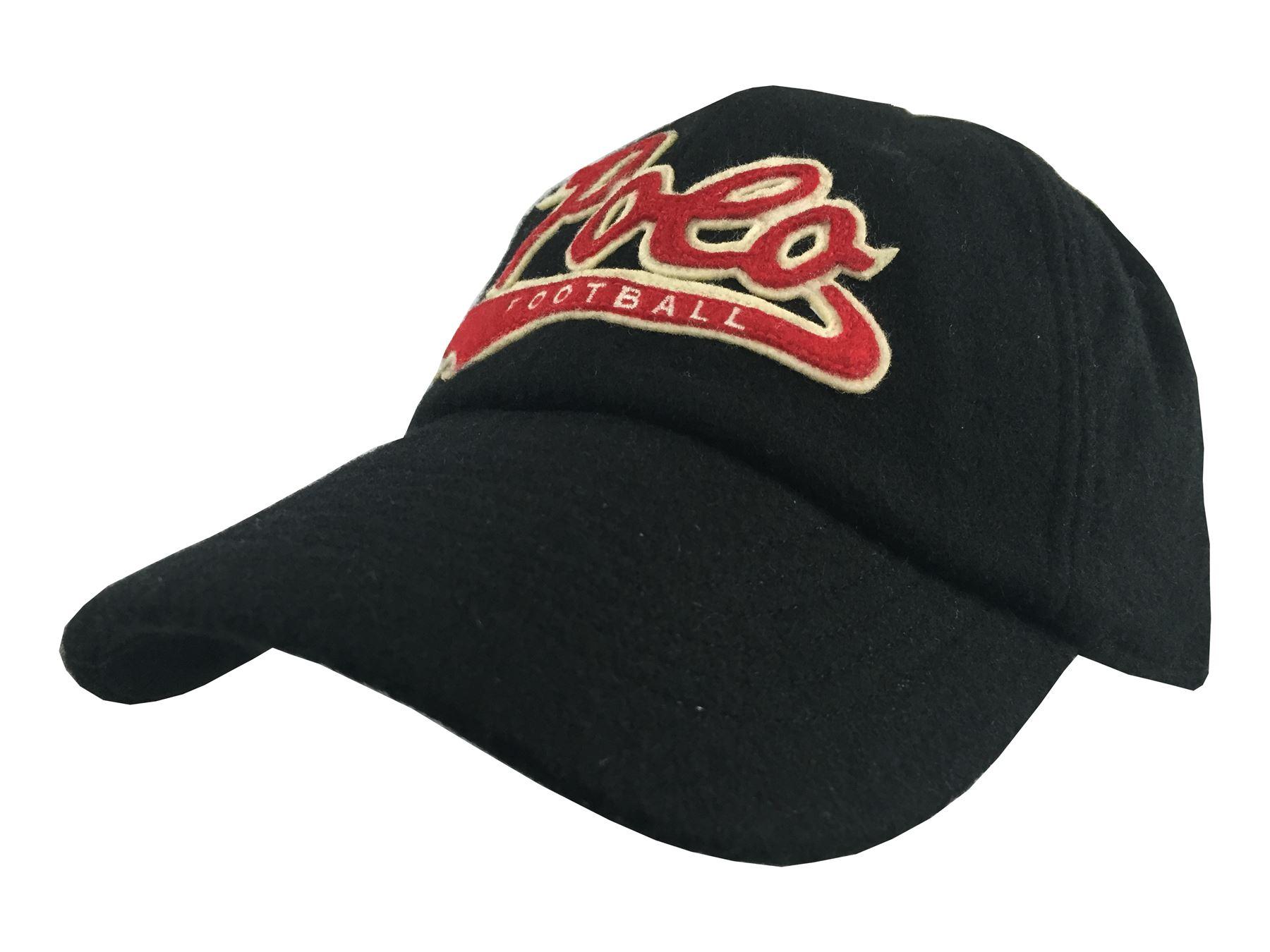 new ralph lauren polo black red cream football adult fitted baseball cap ebay. Black Bedroom Furniture Sets. Home Design Ideas