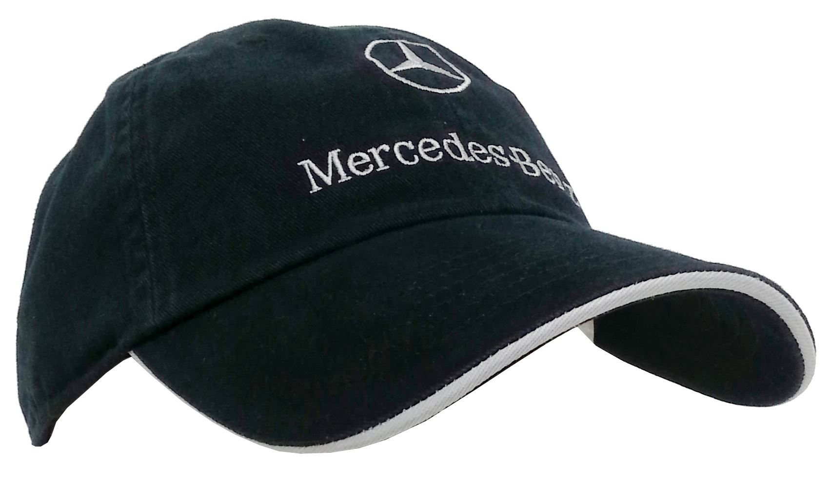 Mercedes benz black navy blue adult cotton mesh for Mercedes benz caps hats