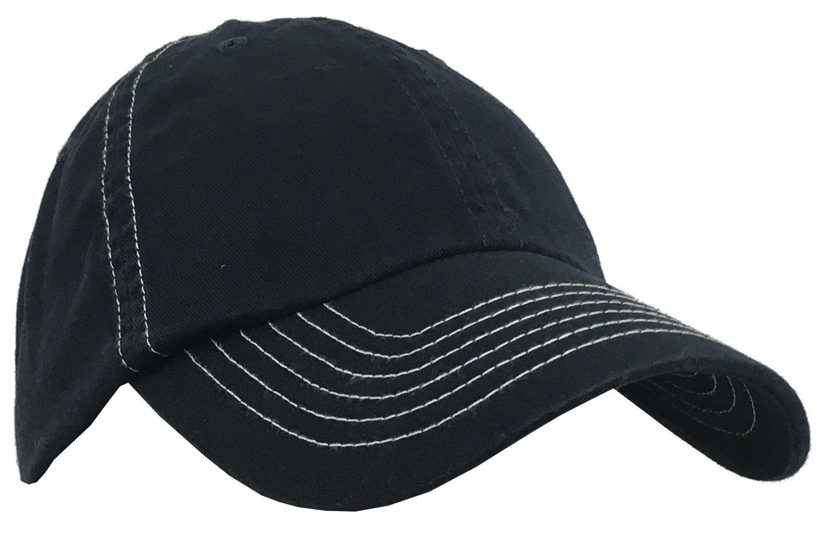 Plain Contrast Stitch Hat Adult Cotton Performance ...  Stitch