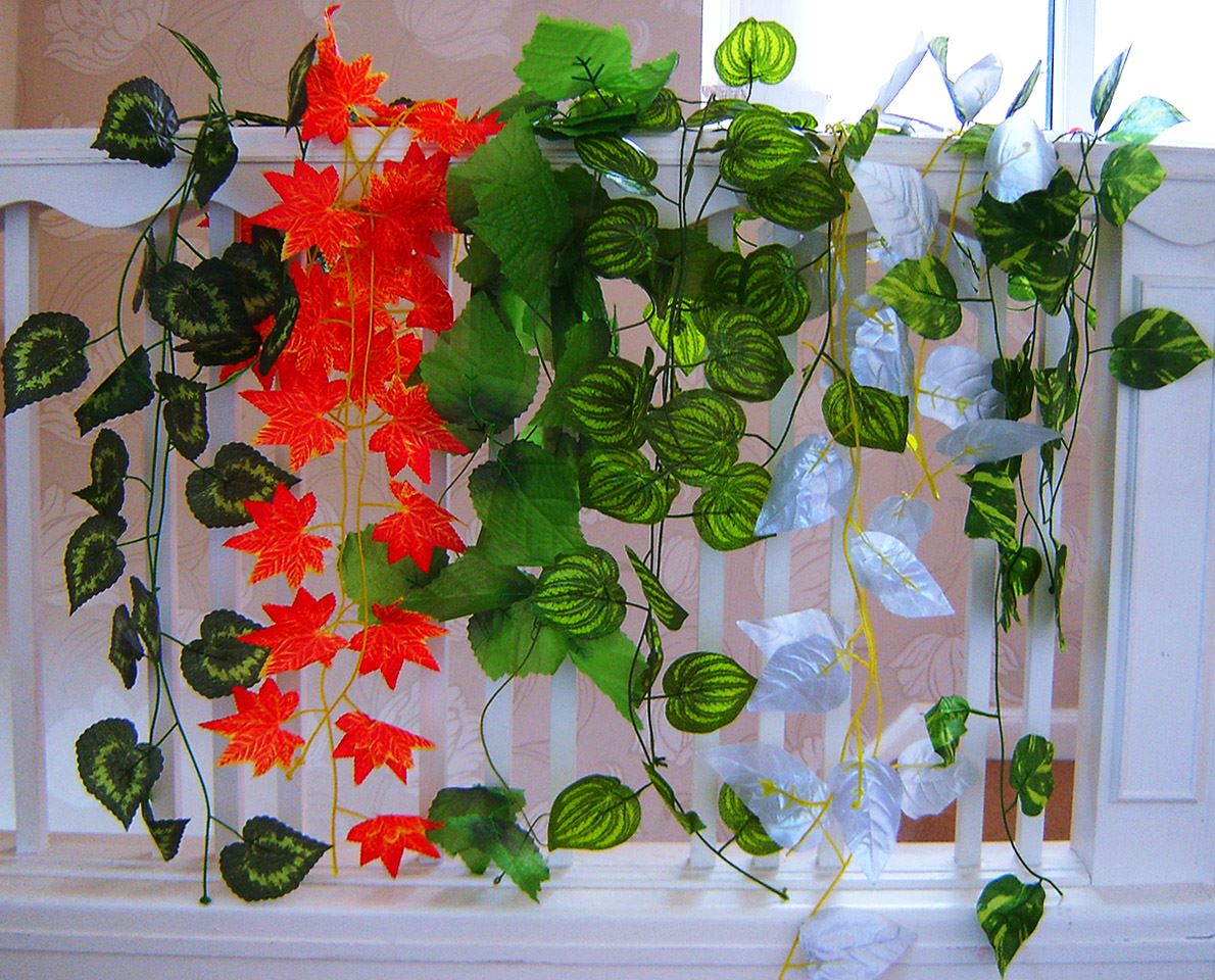 Upto artificial ivy leaf grape vine garland plant for Artificial grape vines decoration