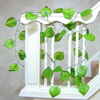 guirlande artificielle de 280cm feuille vigne fausse plante d coration maison ebay. Black Bedroom Furniture Sets. Home Design Ideas