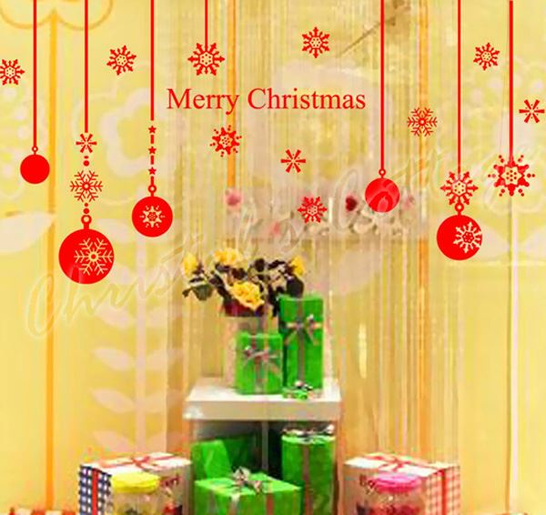 Christmas Ball Wall Decor : Christmas ball show window wall art decoration