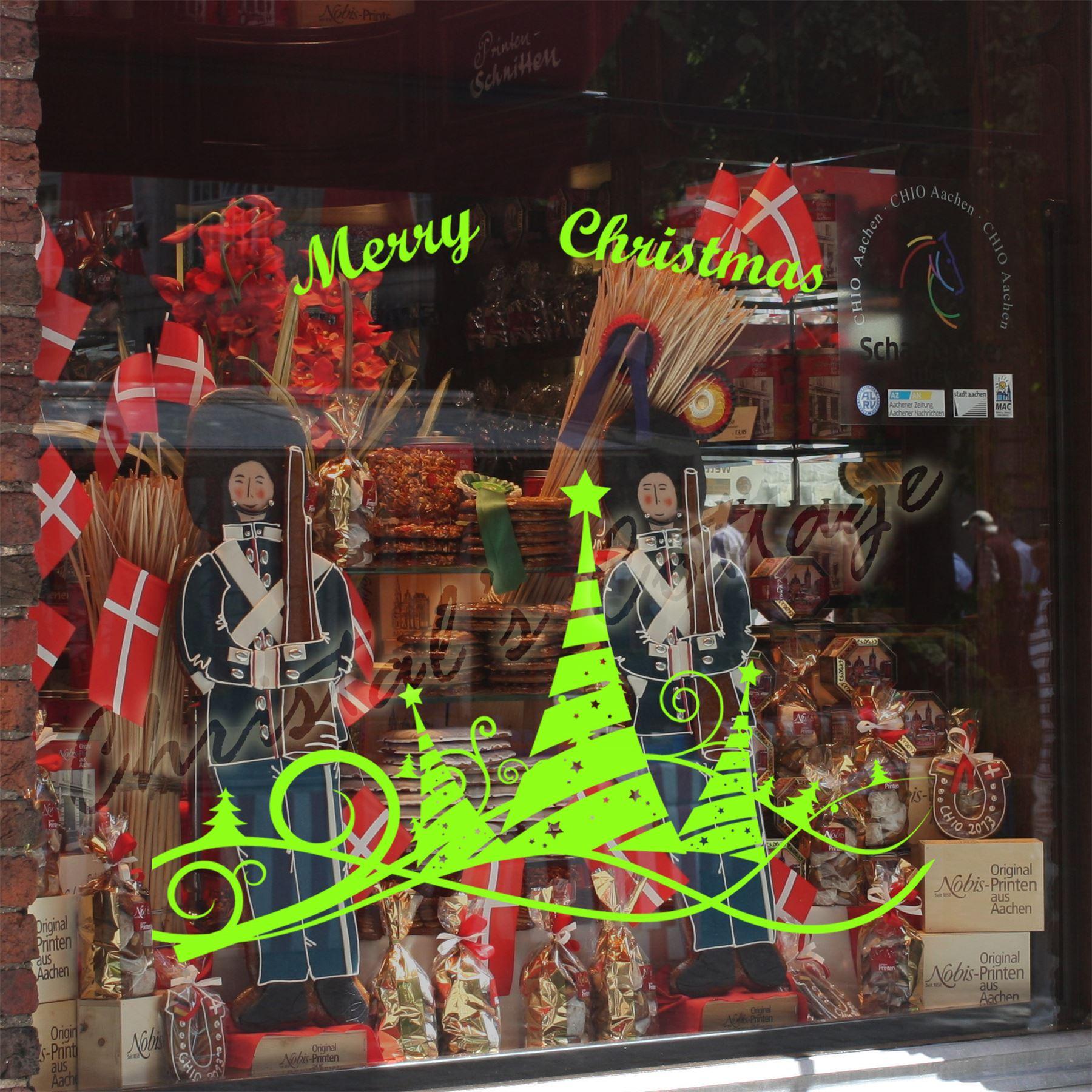 Autocollant vitrine fen tre vitre boutique d coration no l for Decoration vitre fenetre noel