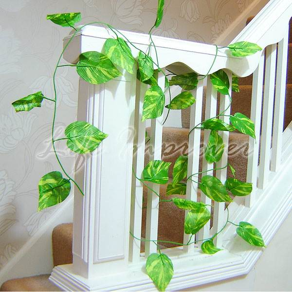 guirlande artificielle de 280cm feuille vigne fausse plante d coration maison ebay. Black Bedroom Furniture Sets. Home Design Ideas