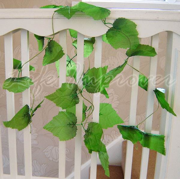 Artificial silk leaf ivy grape vine plant fake foliage for Artificial grape vines decoration