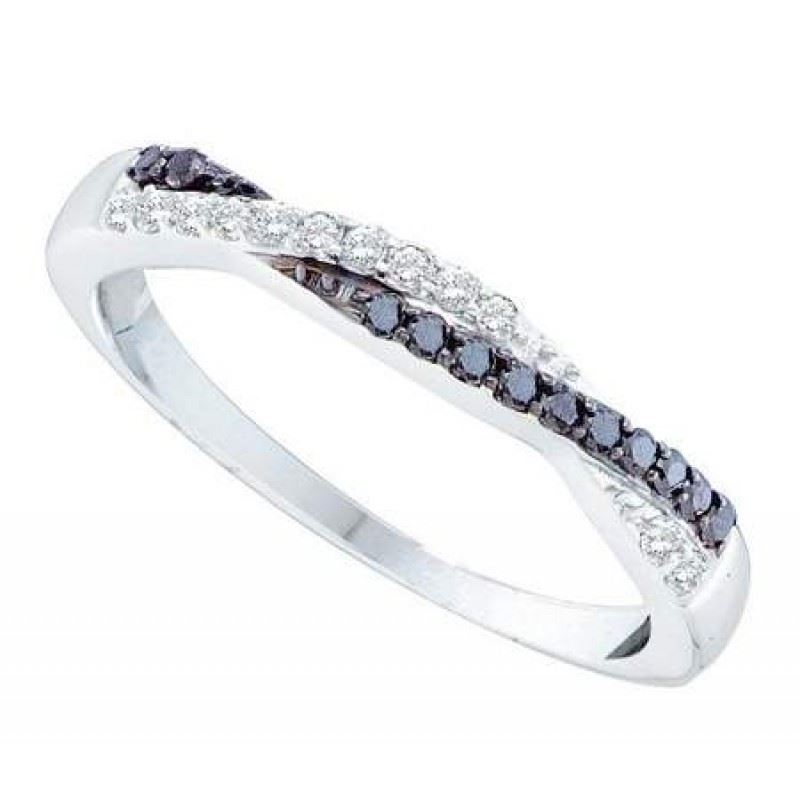 ... -White-and-Black-Diamond-0-25CTW-14K-White-Gold-Wedding-Band-GND51716