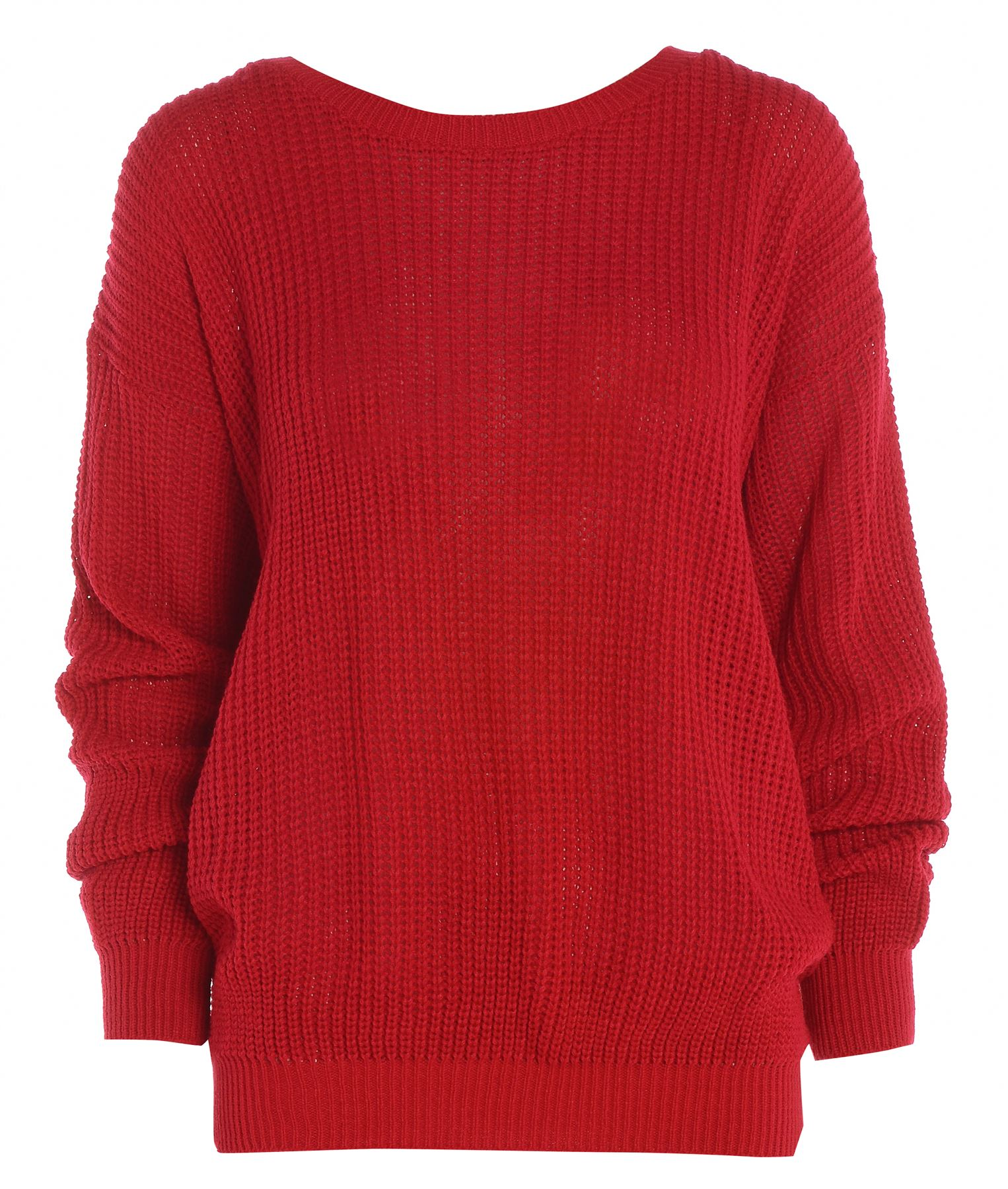 Ladies Womens Oversized Baggy Knitted Jumper Chunky ...
