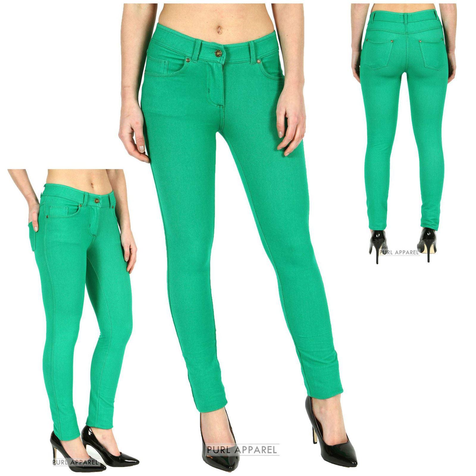 Green skinny jeans womens uk
