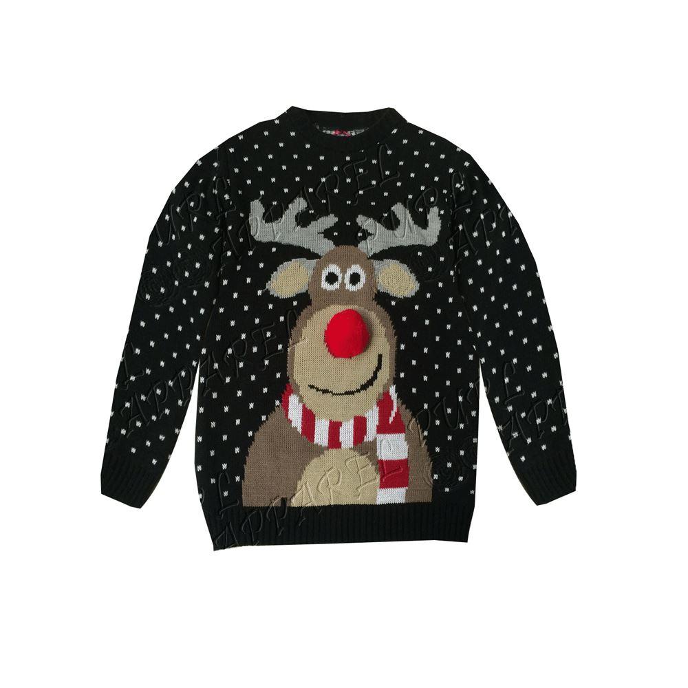kids christmas rudolph unisex reindeer jumpers girls 3d. Black Bedroom Furniture Sets. Home Design Ideas