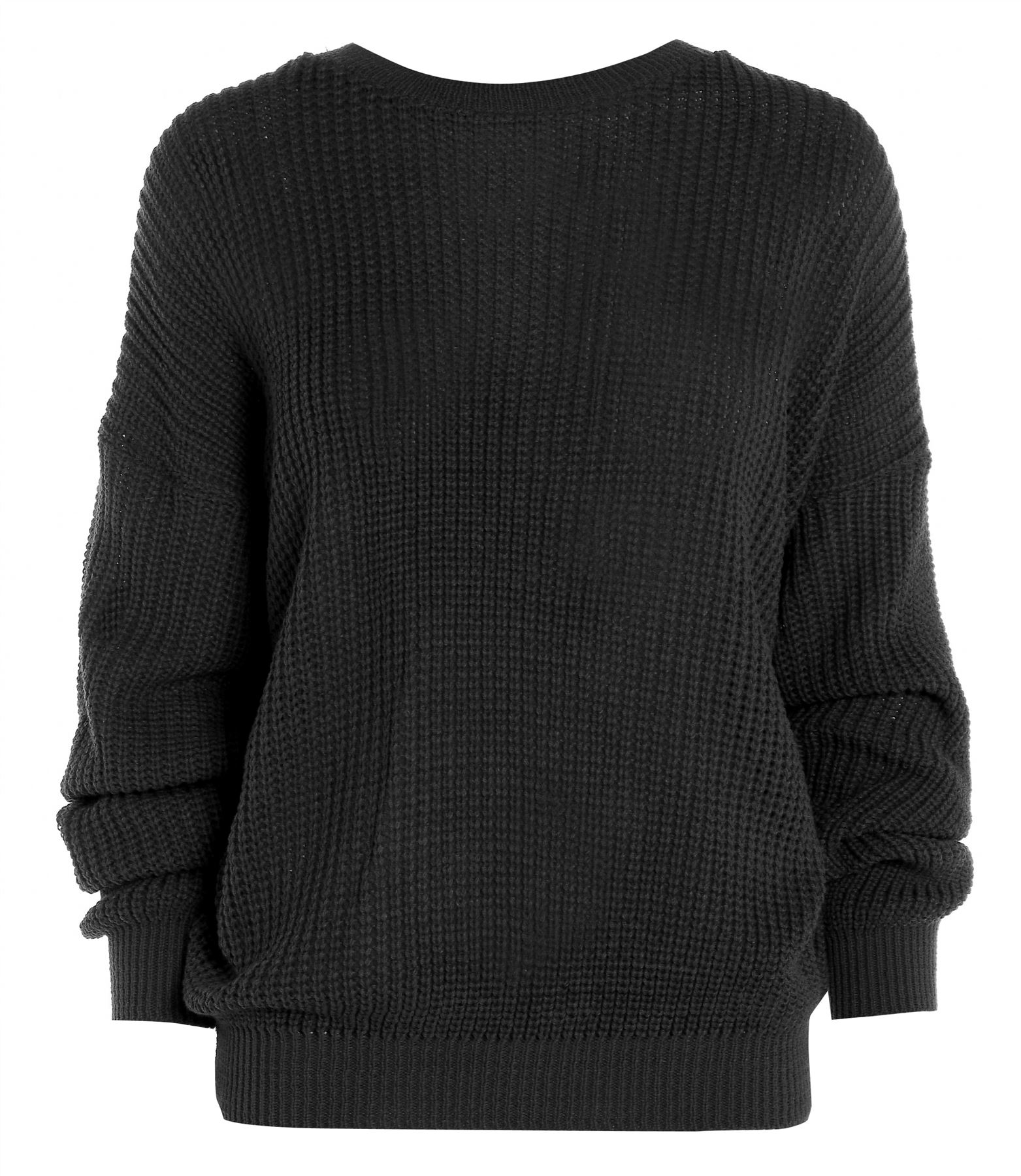 Ladies Womens Oversized Baggy Knitted Jumper Chunky
