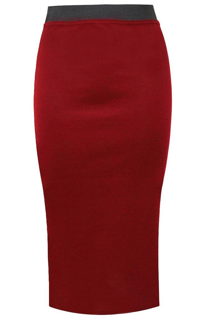 plain pencil skirt womens office bodycon stretch