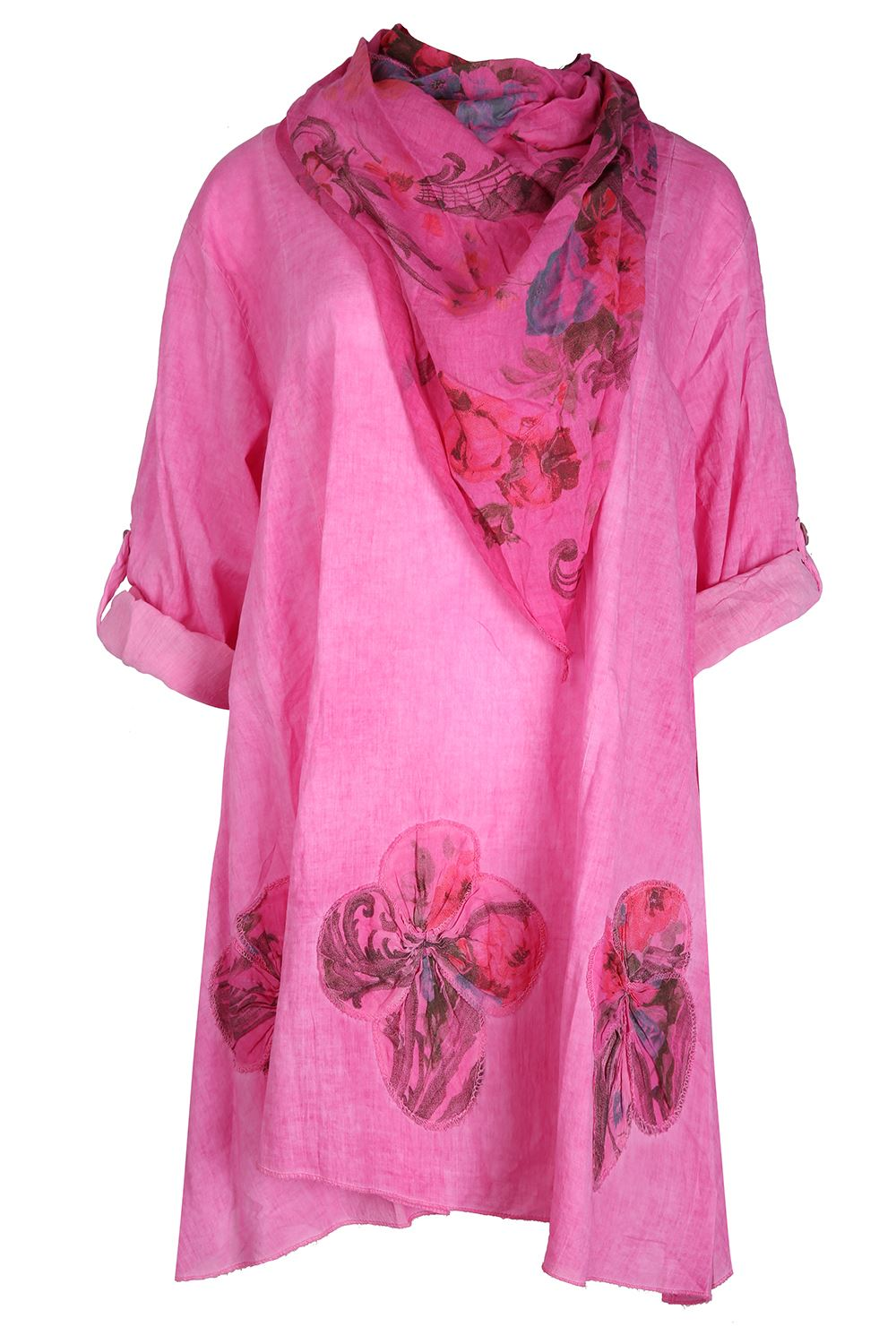 Want to make a serious statement? Slip into a handkerchief-hem tunic from Grace Elements, Cable & Gauge, and Style&co. Drawing the focus away from the hips and thighs, this dramatic design is perfect for elongating the bottom half of the body. Choose a fun and flirty ruffled silhouette or go big and bold with a vibrant print for a look that's .