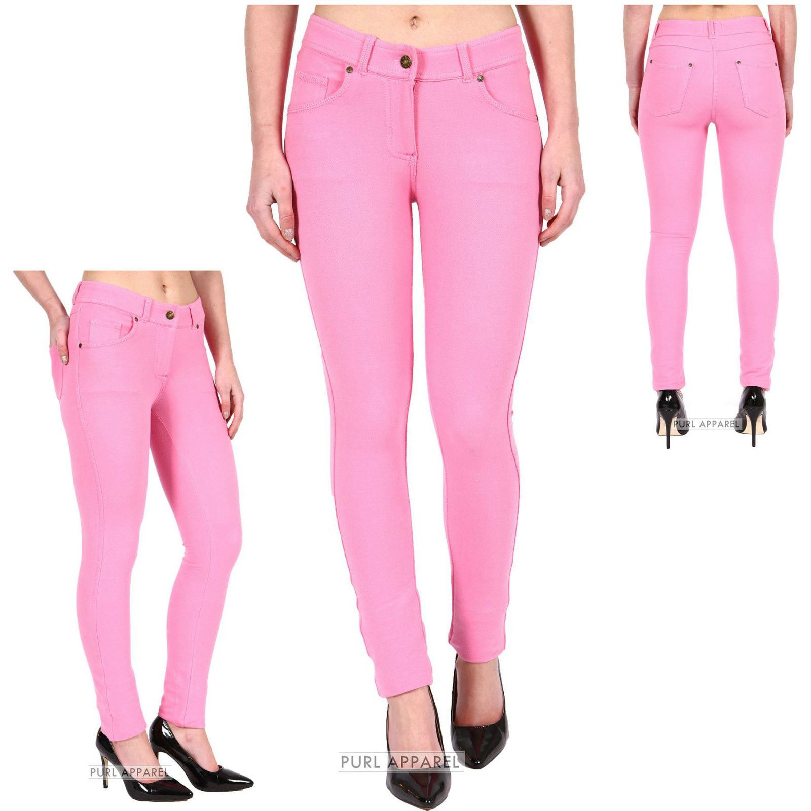 Womens pink jeggings