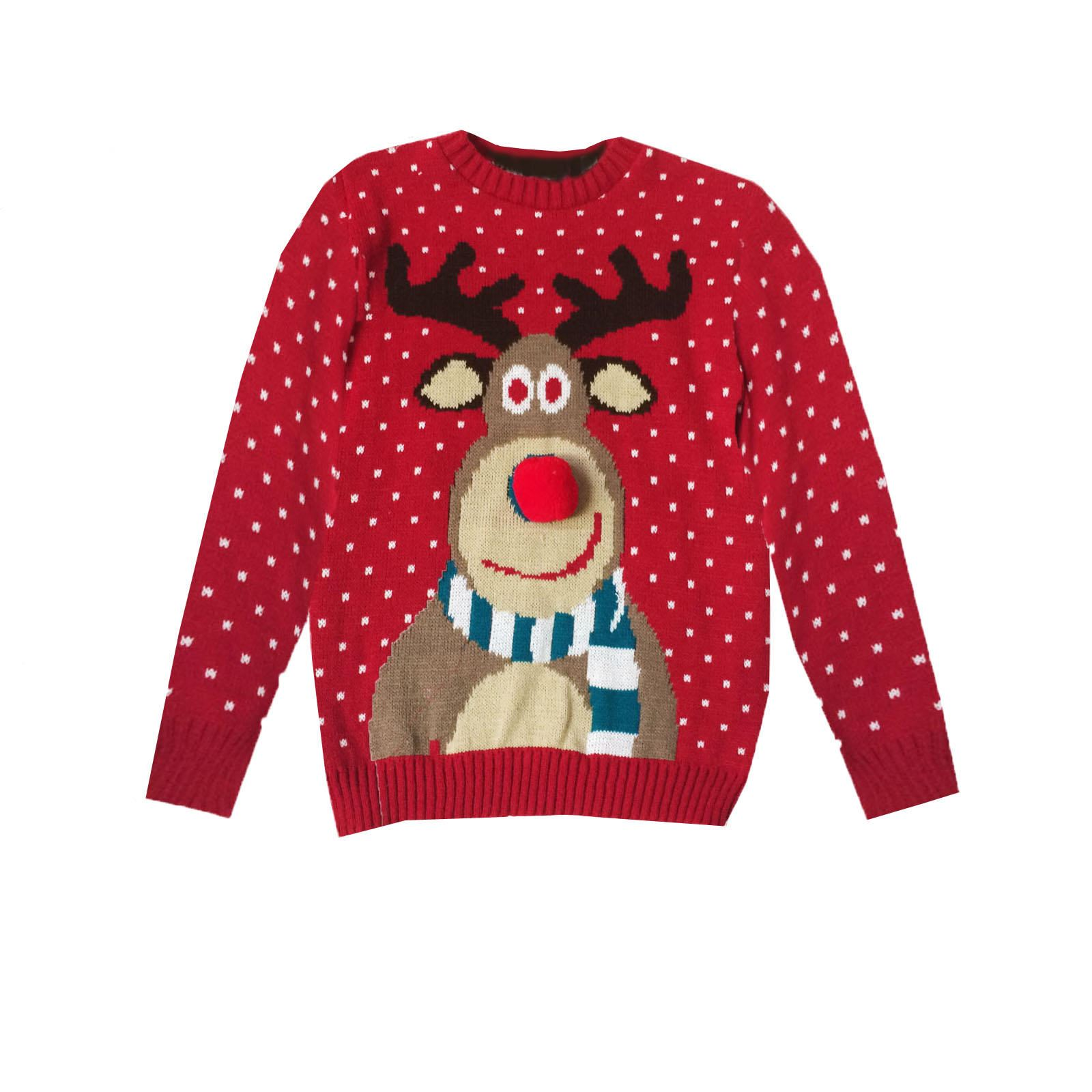 Kids Christmas Jumpers Celebrate Christmas. Pink Reindeer Christmas Jumper £