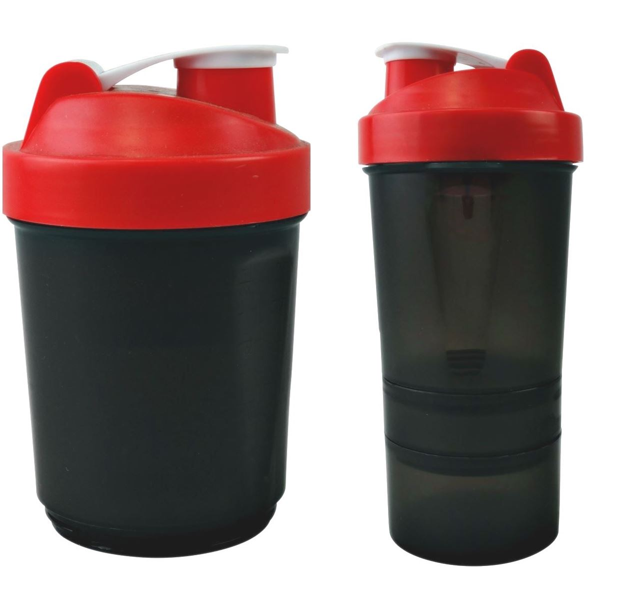 Protein Shaker Lot: Red Protein Shaker 400-500ml Water Nutrition Mixer Bottle